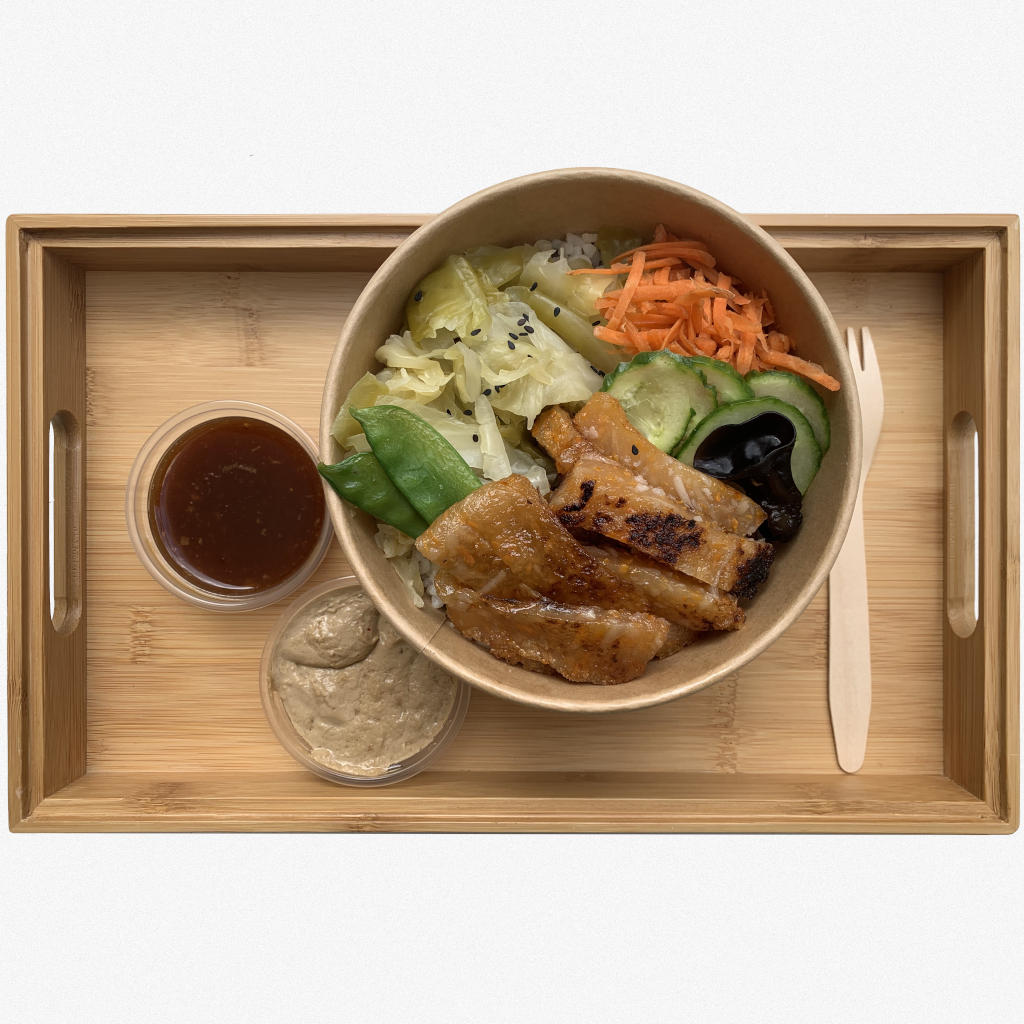 A 'MI'Bowl Classic' rice bowl menu