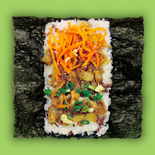 Open rice sandwich 'MIBAP Chicken'